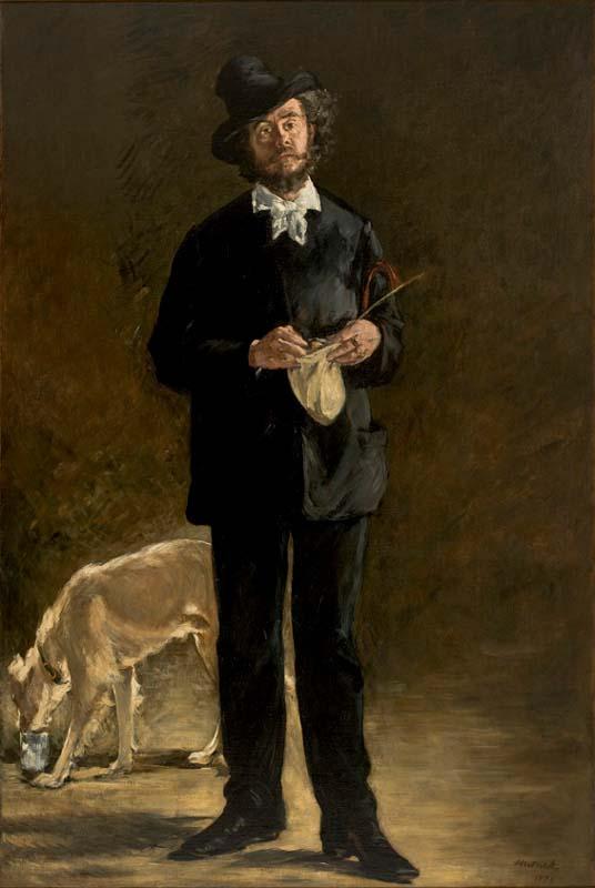 Manet O artista Retrato de Marcellin Desboutin 1875 3