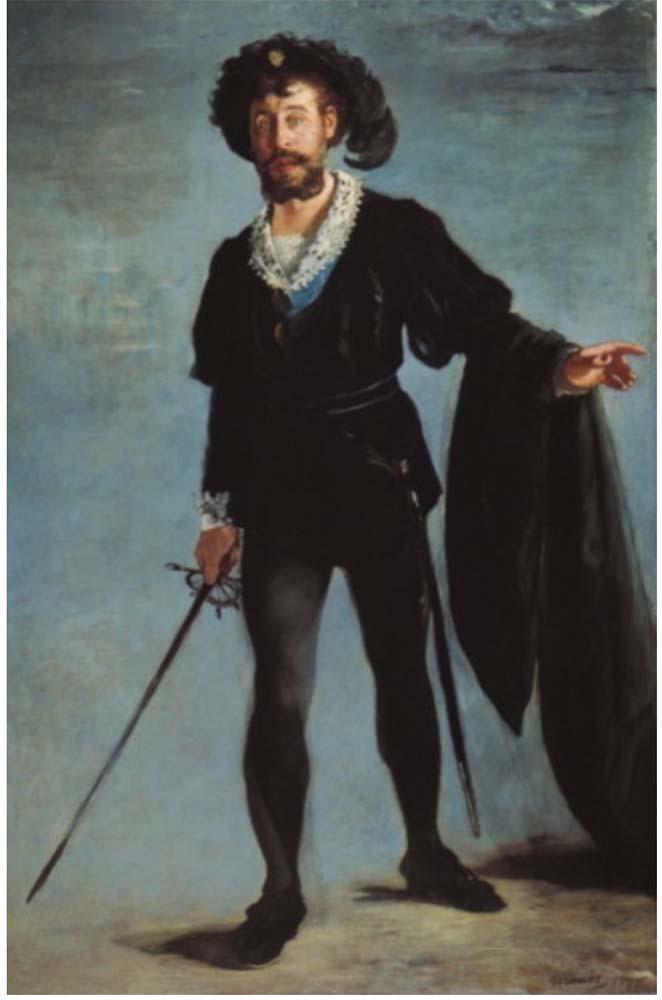 Edouard Manet Faure as Hamlet